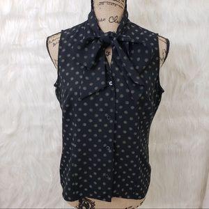 Liz Claiborne high neck tied blouse